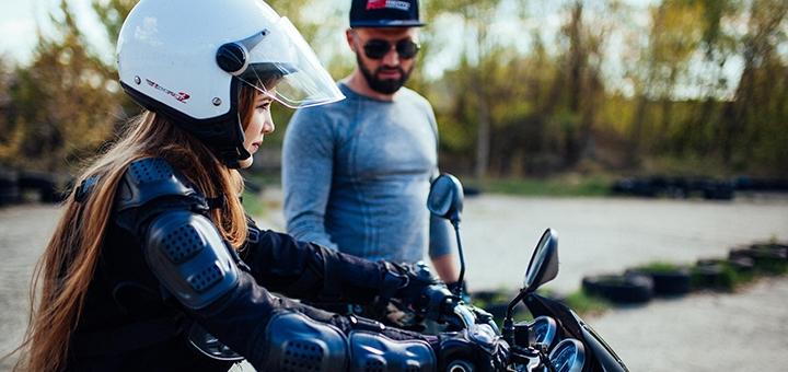Пробное занятие или базовый курс вождения на мотоцикле от мотошколы «RSmoto»