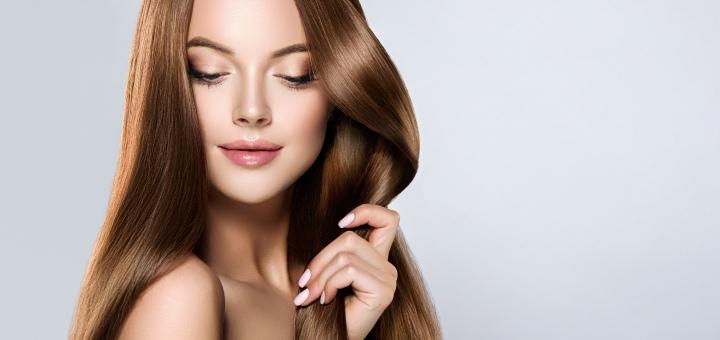 Кератиновое выравнивание и нанопластика волос со стрижкой кончиков и укладкой в «Antiopa»