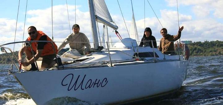 Скидка 55% на трехчасовую прогулку на парусной яхте «Шанс» с мастер-классом по управлению
