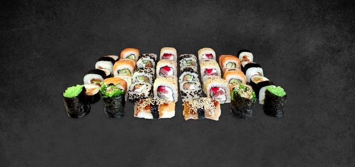 Скидка 50% на сет «Family сет» с самовывозом от сети кафетериев японской кухни «FS Ukraine»