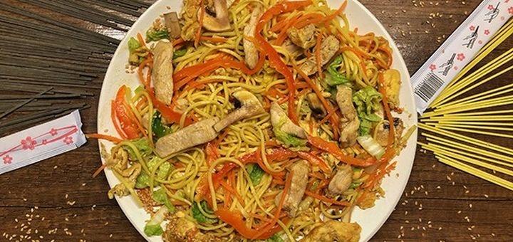 Знижка 40% на все меню кухні та напої з доставкою чи самовивозом від ресторану «Wok&Pizza»