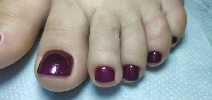 Маникюр и педикюр с выравниванием и покрытием ногтей гель-лаком от Анастасии Воробьевой