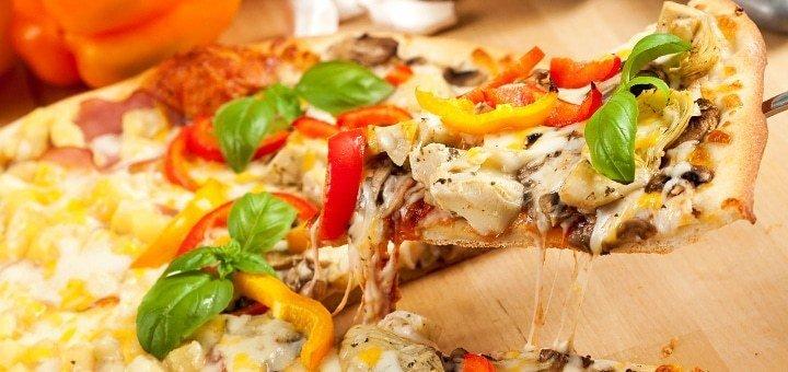 До 50% скидки на все меню кухни и горячие напитки в семейной пиццерии «Сipollino»!