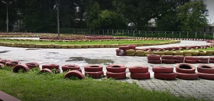 Скидка 50% на 10 кругов гонок на карте от картинг-центра в парке Глобы