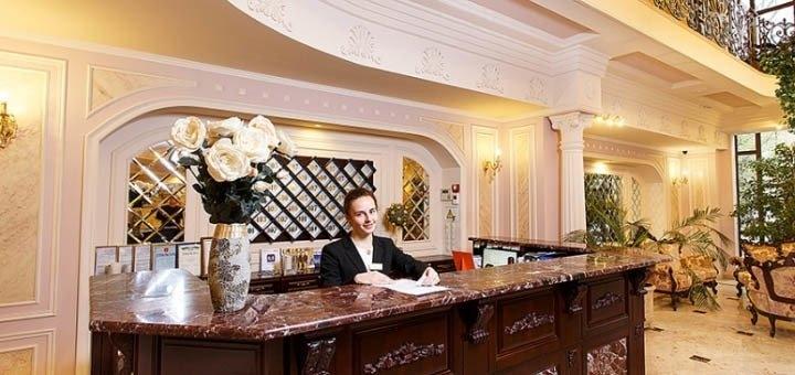 От 2 дней с завтраками в пятизвездочном отеле «Калифорния 5*» в центре Одессы на Черном море