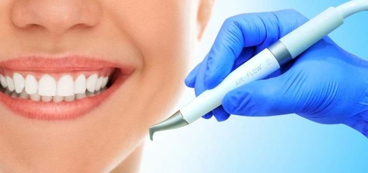 Профессиональная ультразвуковая чистка зубов с Air Flow в стоматологии «The Dent»