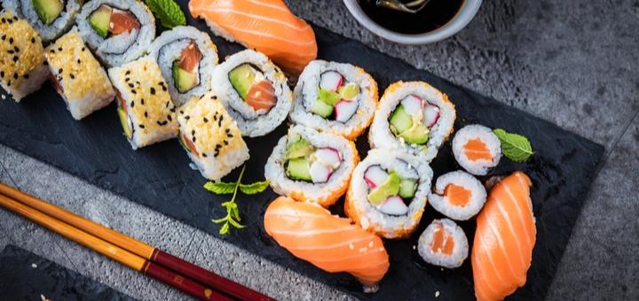Скидка до 60% на все меню от службы доставки еды «Ё-SUSHI»