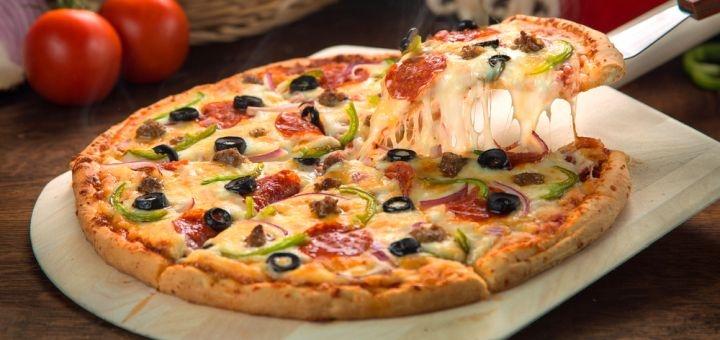 Скидка 40% на все меню пиццы от пиццерии «Becon`s Pizza» в ТЦ «Французский бульвар»