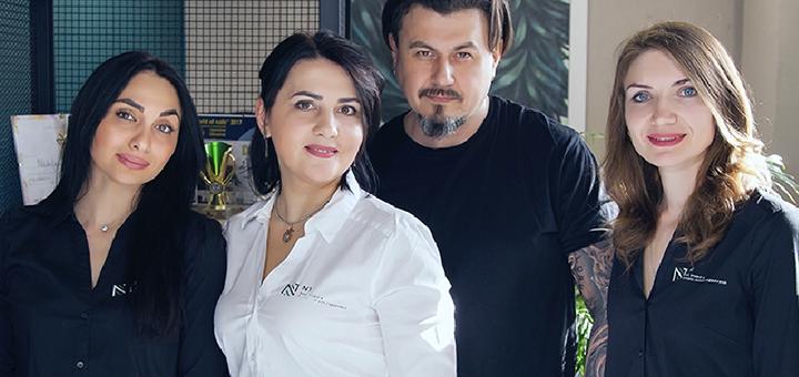 Мужской маникюр, педикюр с укрепляющим покрытием в «N1» Nail Studio & School Натальи Недолужко