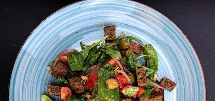 Скидка 50% на все меню кухни и напитки в ресторане «A la Ferme»