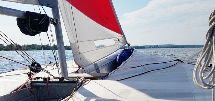 Скидка до 33% на прогулки по Днепру на яхте с обучением от мастера спорта от «YachtTeam»