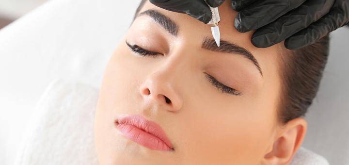 Пудровые брови с максимально натуральным эффектом в студии «The beauty space»