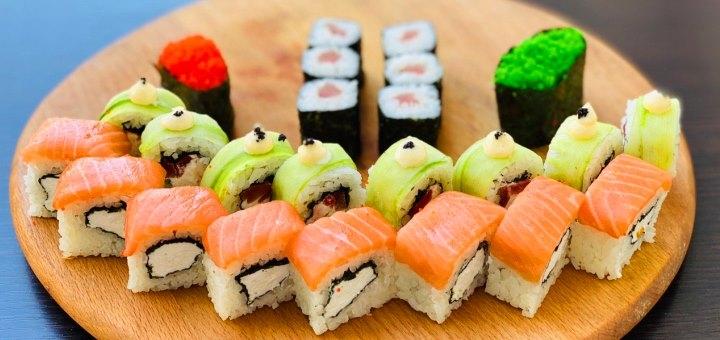 Скидка 50% на суши-сет «Свидание» от сети кафе-магазинов «Суши Сет»