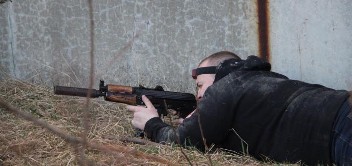 Дві години гри в лазертаг від клубу вогневої і тактичної підготовки «Штурмовик»