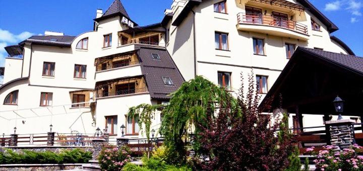 От 2 дней отдыха с завтраками и ужинами в отеле «Гердан» в Микуличине вблизи Буковеля