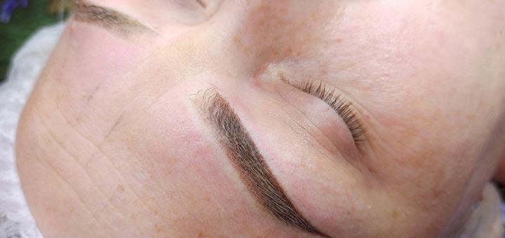 Скидка 50% на перманентный пудровый макияж бровей от мастера Яны Щербань