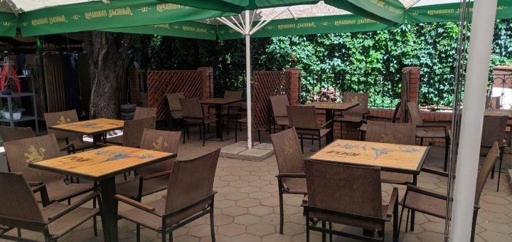 Скидка 40% на весь алкоголь, пиццу, закуски и гарниры в кафе «Marti»