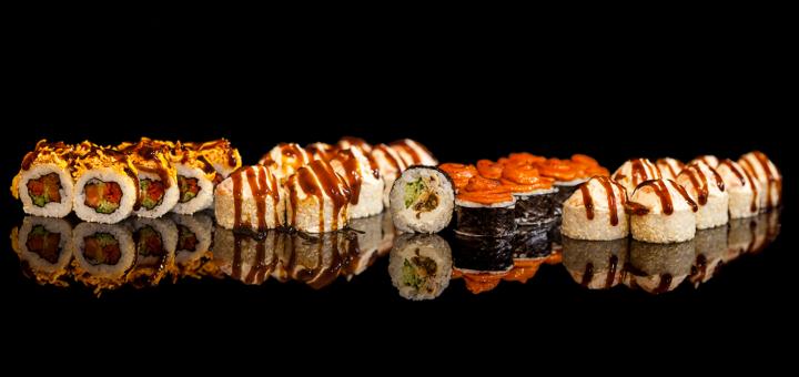 Скидка 50% на суши-сет «2020» с доставкой от «JoySushi»