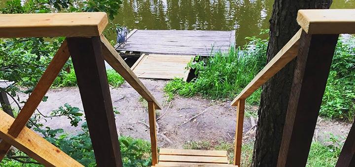 Рыбалка с арендой беседки, мангала и удочек на базе отдыха «Рыбацкая стрелка»