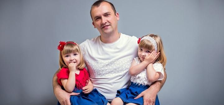Студийная семейная или детская фотосессия от фотографа Юлии Телейчук в студии «TJ»