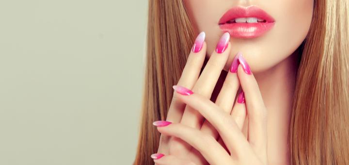 Наращивание ногтей с покрытием гель-лаком и маникюром в салоне красоты «Stars Beauty»
