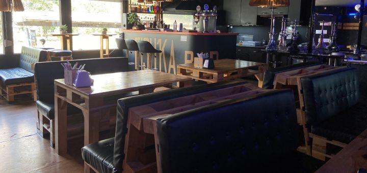 Кальян «Serbetli» c чаем, кофе или лимонадом в лаунж-баре «Fishka bar»