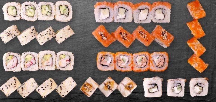 Скидка 50% на суши-сет «Скин» с доставкой или самовывозом от «4Sushi»