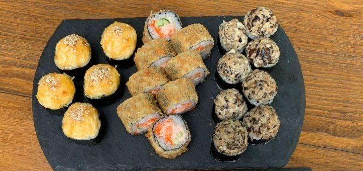 Скидка 50% на килограммовый суши-сет «Релакс» от сети кафе-магазинов «Суши Сет»