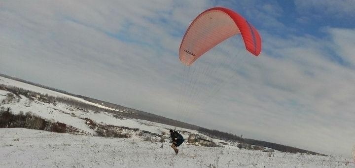 Скидка 50% на высотный полет на параплане в тандеме с инструктором от школы «Харьков Sky»