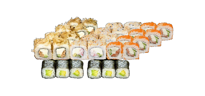 Скидка 55% на сет «Атланта» от службы доставки «Sushi Profi»