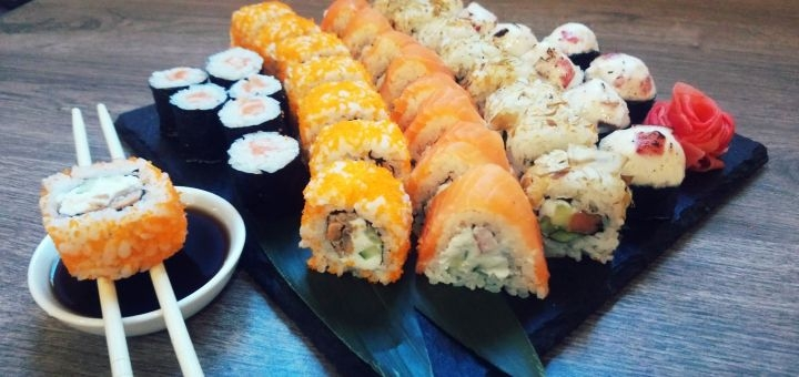 Скидка 50% на сет «Осенний» от службы доставки «SushiEd»