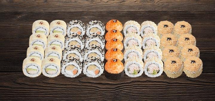 Скидка 54% на суши-сет «Ассорти» от магазина-ресторана японской кухни «Суши WOK»