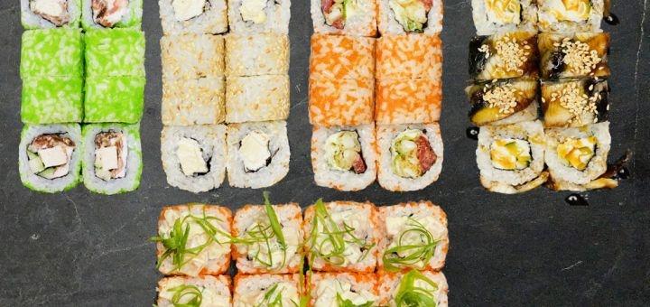 Скидка 40% на сеты «М», «L», «ХL» и пиццу «Пеперони» или «Карбонара» в ресторане «Tasty Hub»