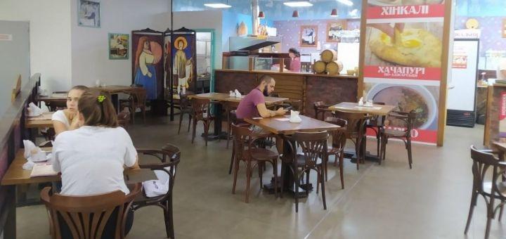 Скидка 50% на все меню кухни в ресторане «Хінкальня» в ТРЦ «Наша Правда»