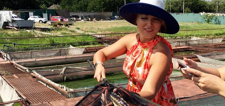 Рыбалка с арендой альтанки и мангала и экскурсией на осетровой ферме «Бестер» под Киевом