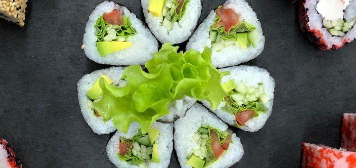 Скидка 50% на все меню кухни с самовывозом от компании «Tasty Sushi»