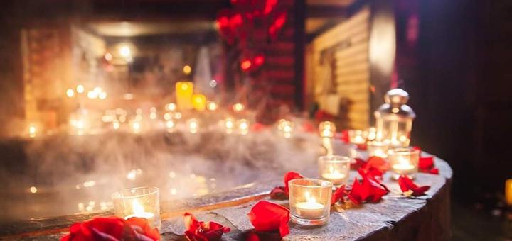 Романтический вечер для пары с купанием в чане в будние дни от SPA-комплекса «Баня Афродиты»