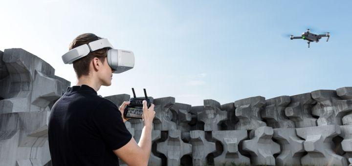 Виртуальный полёт на квадрокоптере при помощи VR-очков от «Pro100kat»