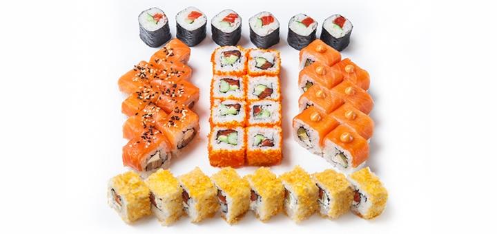 Скидка 40% на суши-сет «С лососем» с доставкой или самовывозом от «Menu Avenu»