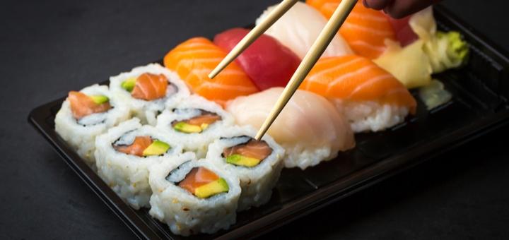Скидка 50% на все меню суши и пиццы в кафе «Tofu» на Соборном