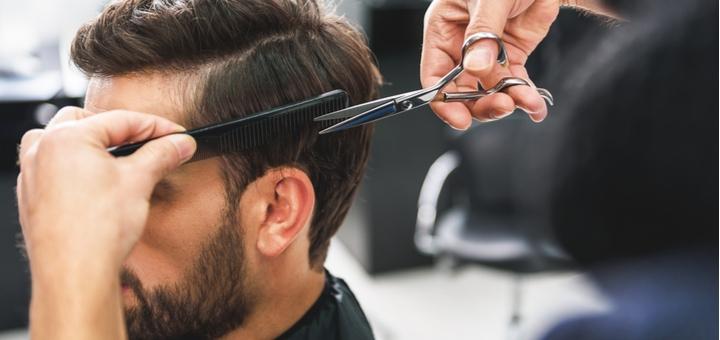 Мужская стрижка, укладка, коррекция бороды и камуфлирование волос в салоне «OLLI»