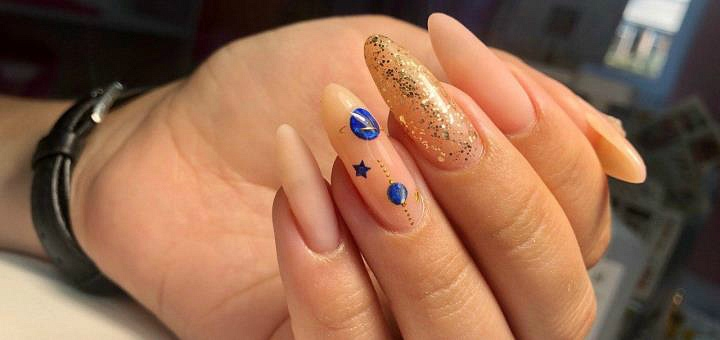 Маникюр с покрытием гель-лаком в салоне красоты «Nails&Tips»