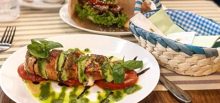 Скидка 50% на все меню кухни в сети ресторанов европейской кухни «Avocado»