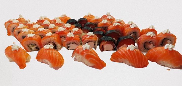 Скидка 50% на сет «Филадельфия MIX» от суши-бара «Japanika»