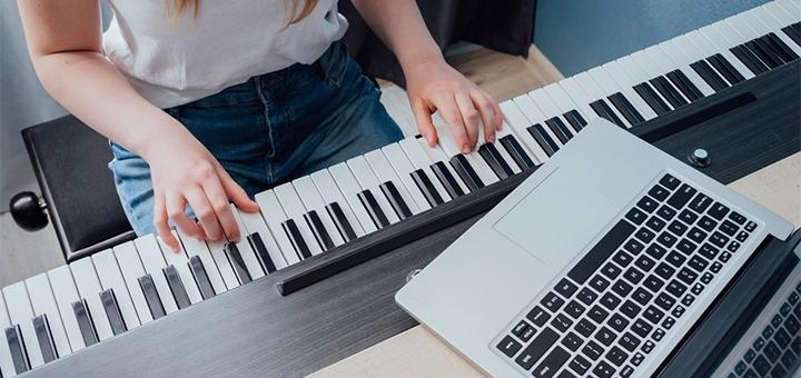 До 6 месяцев онлайн-обучения игре на фортепиано от центра «MusicBoom Prestige»