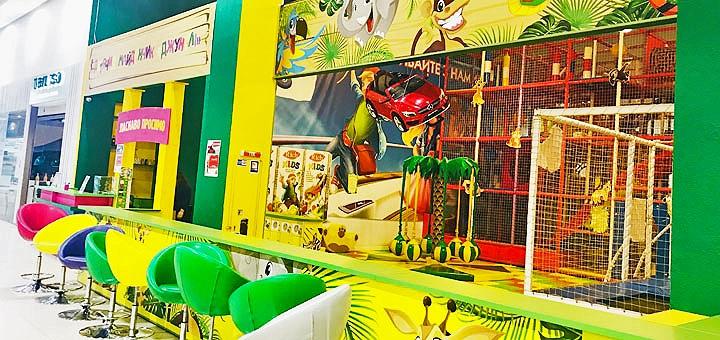 Входной билет на детскую игровую площадку «Джунгли» в ТРЦ «Dream Town 1»