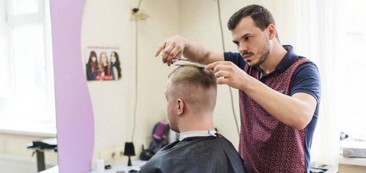 Мужская стрижка с укладкой, коррекция бровей и бороды от стилиста-парикмахера Игоря Малашкевича