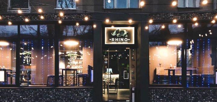 Скидка 50% на меню кухни и 30% на кальяны в ресторане «Rhino»