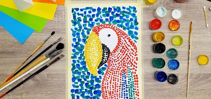 Онлайн-курс «Нескучное искусство» для детей в школе рисования «Artkid»