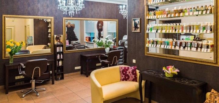 Сложное окрашивание, кератиновое выравнивание со стрижкой и укладкой в салоне красоты «Ansi beauty»